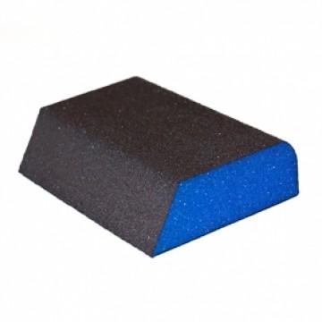 Комбинированная  4-х  сторонняя губка Р180  69*98*26мм 0070.0381