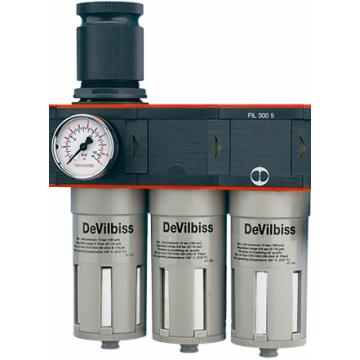 Влагомаслоотделитель для окрасочных работи подключения дыхательных масок с принудительной вентиляцией DVFR-8 DeVilbiss